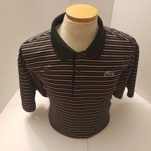 Lacoste sport Mens Stripes Polo Size 9 in excellen